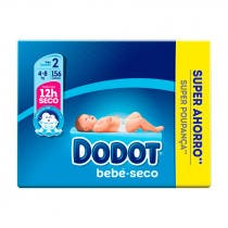 Dodot Bebe Seco Panal Pack Super Ahorro T2 156Uds