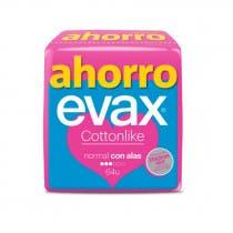 Compresas Evax Cottonlike Normal Alas 64Uds (4x16Uds)