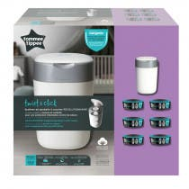 Tommee Tippee Contenedor Pañales Sangenic Twist&Click Blanco + 6 Recambios