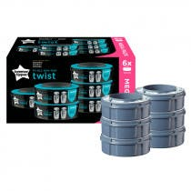 Recambios Contenedor Panales Sangenic TwistClick Tommee Tippee 6Uds