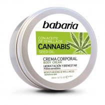 Crema Corporal con Aceite de Semilla de Cannabis Babaria 200ml