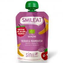 Pouch Yogur y Frambuesa Ecologico Smileat 100g