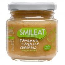 Smileat Tarrito de Manzana y Pera con Cereales 100 Ecologico 130g