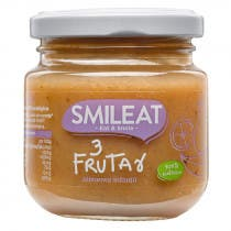 Smileat Tarrito de Tres Frutas 100 Ecologico 130g